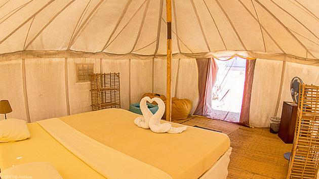 Votre hébergement sous tente face au spot de Wadi Lahami
