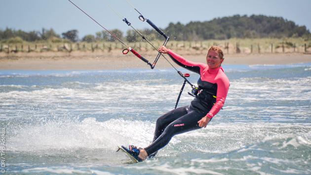 Séjour kitesurf à Beauduc avec hébergement en Camargue