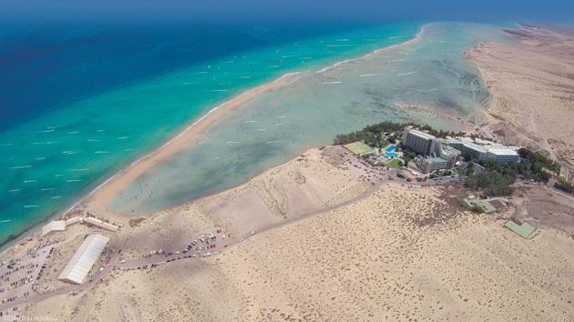 La lagune de Sotavento à Fuerteventura aux Canaries pour vos sessions kitesurf