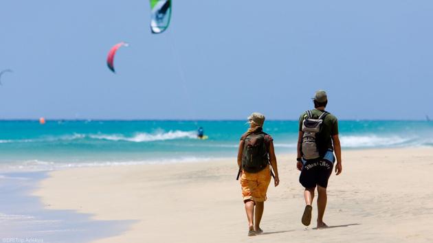 Découvrez la lagune de Sotavento pendant votre séjour kitesur aux Canaries