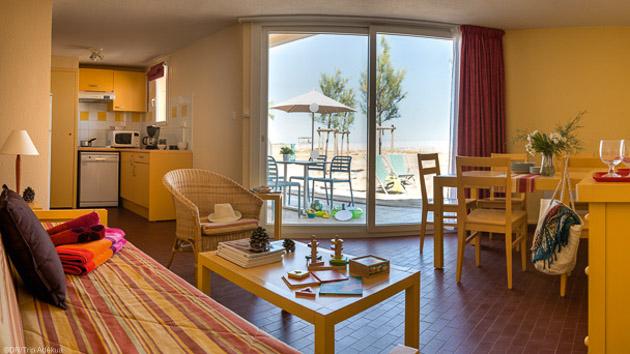 Votre hébergement tout confort en résidence avec piscine à Gruissan