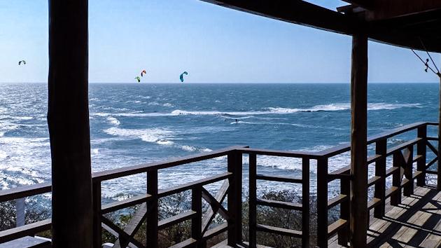 vue depuis votre logement sur le spot de kite à Santa Veronica