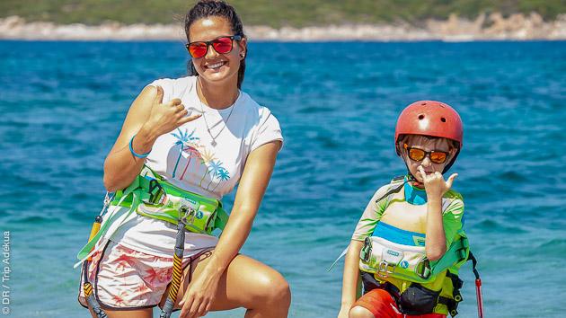 Deux spots à Evia pour la pratique du kite, en séjour avec location de matos ou stage intensif, selon vos envies