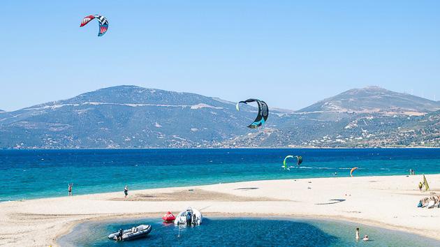 Le spot d'Evia en Grèce : le paradis pour progresser en kite