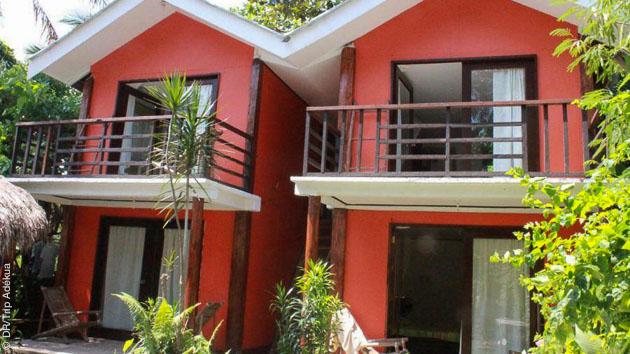 Votre hébergement en bungalow, directement sur le spot de kite à Boracay