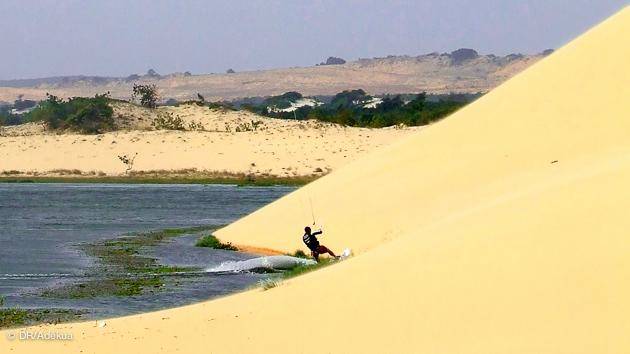 le spot de kitesurf sur la lagune de mui ne