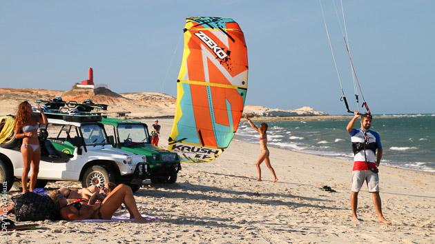 kite au Brésil sur le spot de Pontal
