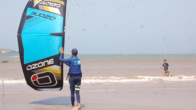 Partez en road trip kitesurf autour d'Essaouira avec hôtel et gardiennage de matériel