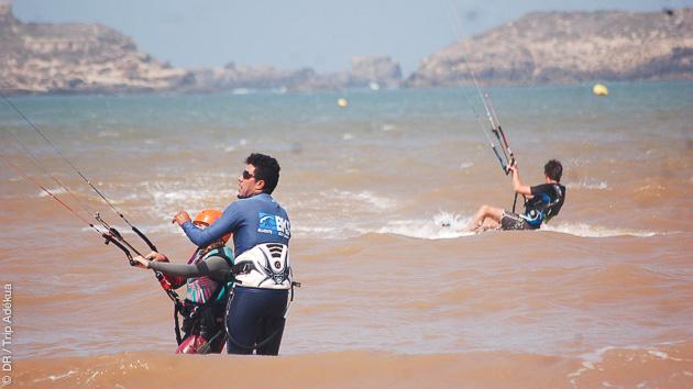 Un stage de kite avec moniteurs et matériel, à la carte, dans la baie d'Essaouira