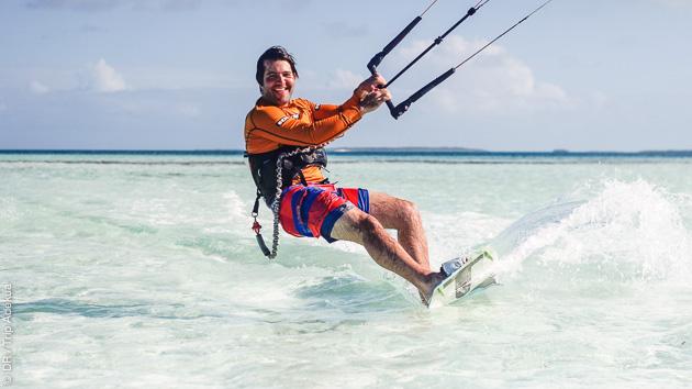 Pour tous niveaux, des cours de kite en décembre à Los Roques, au Venezuela