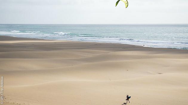 Kitesurf sur les spot de Boa Vista, pour découvrir la glisse et l'île