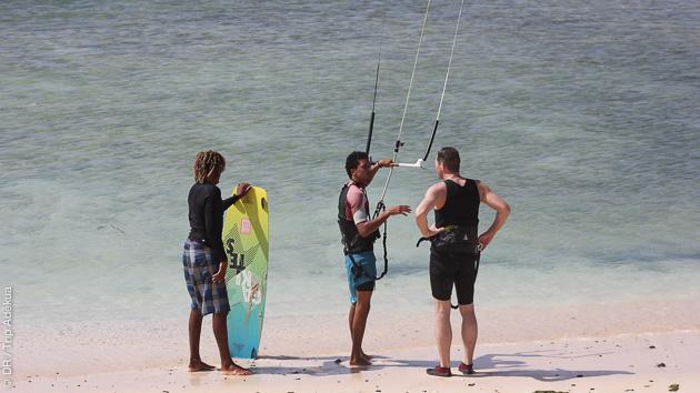 Cours de kitesurf avec moniteur diplomé à Boa Vista au Cap vert