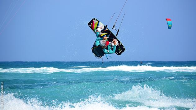 prêt pour un apprentissage express du kitesurf à Sal au Cap Vert