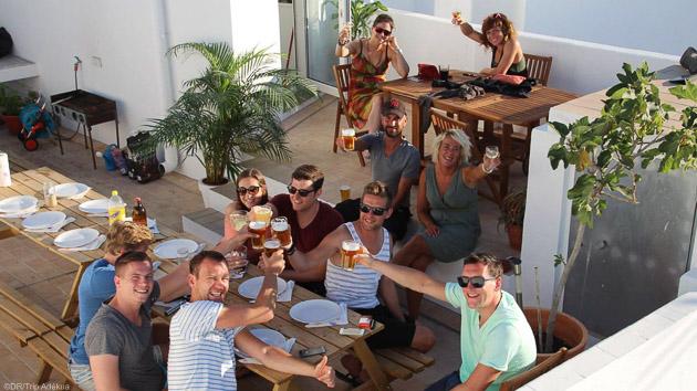 Dortoirs lumineux et confort pour notre surf house à Tarifa