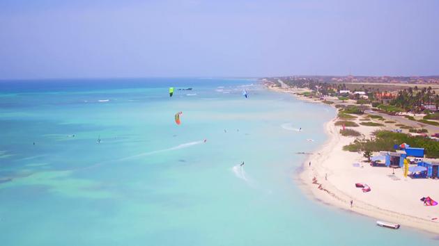 Venez naviguez en kite sur les plus beaux spots d'Aruba aux Caraïbes