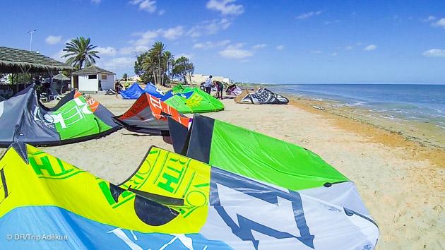 le meilleur spot de kite de djerba est smile beach
