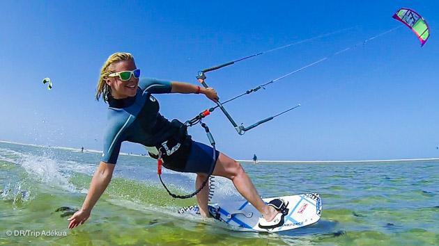 à djerba on a de très bonnes conditions pour apprendre le kitesurf