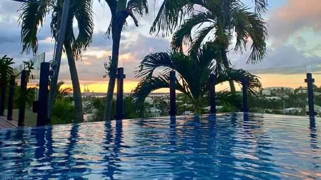 Une villa avec piscine sur la marina du Gosier pour votre séjour kite en Guadeloupe