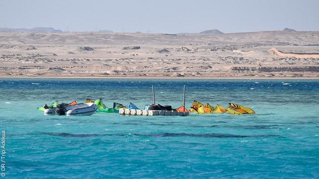 un spot idéal pour le kite en Egypte, avec des conditions idylliques