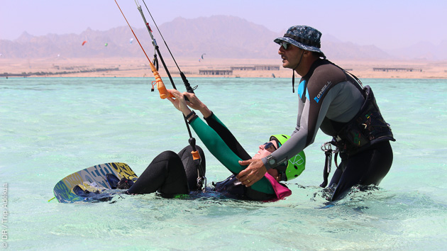 vos cours de kite en mer rouge, avec instructeur diplômé