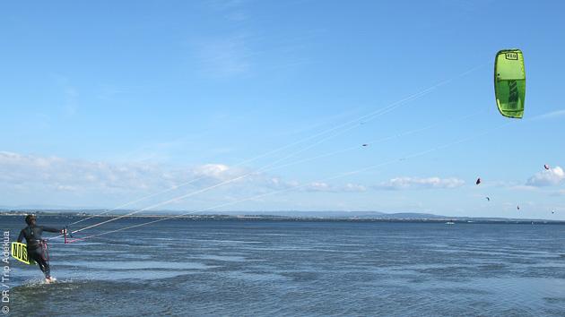Les spots de kite sont sélectionnés selon les conditions et votre niveau pendant le stage