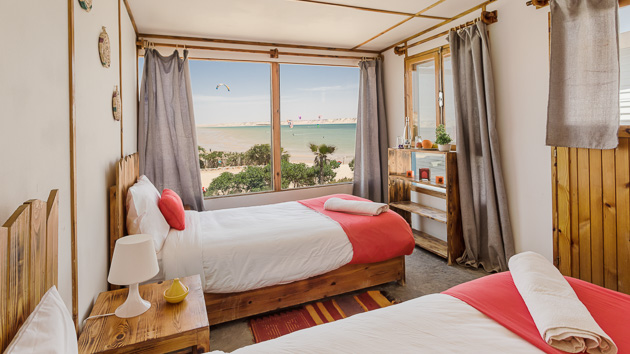 Un séjour kite de rêve avec hébergement en bungalow sur le spot