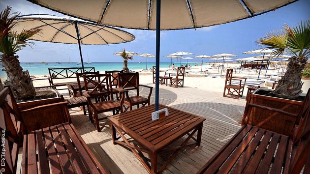 Magnifique hôtel pour ce stage de kite, face à la plage de Santa Maria, sur l'île de Sal