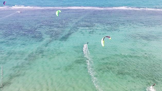 Après le kite, la détente et le snorkeling sur le lagon de Koh Phangan en Thaîlande