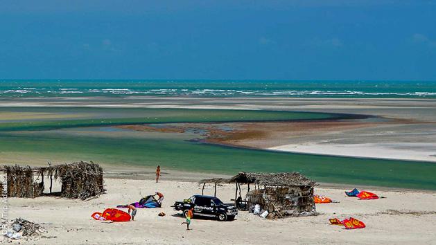 Naviguez sur les meilleurs spots de Jericoacoara au Brésil