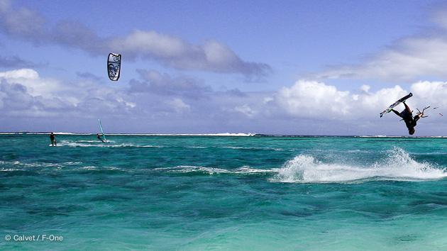 des spots de kitesurf pour tous les niveaux à Maurice