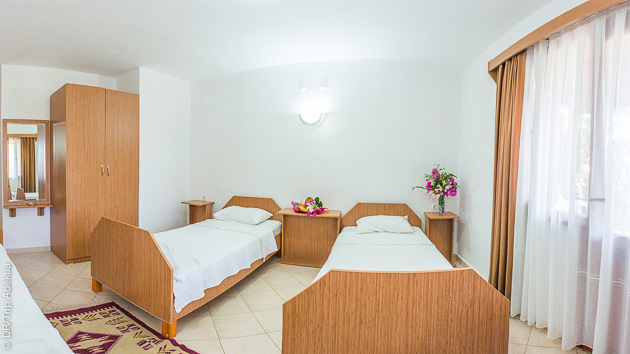 Bungalow ou chambre d'hôtel, un hébergement en pension complète à Datça