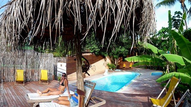 la piscine du kite camp à Tibau do Sul