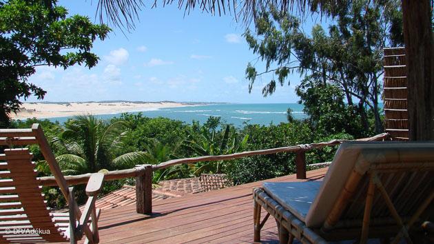 la vue depuis le kitesurf camp à Tibau do Sul au Brésil