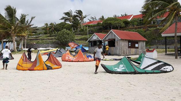 Kite et détente dans l'Océan Indien