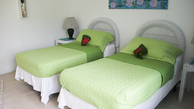 Votre hôtel tout confort est situé face au spot de kite sur Cat Island, et en pension complète !