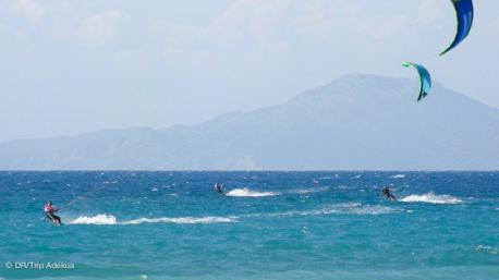 le spot de kitesurf à Rhodes
