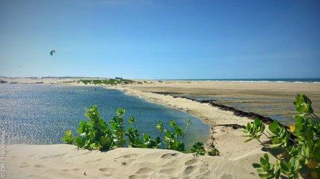 Lagoinha et la lagune do jegue, un cadre idéal pour vos sessions kite au Brésil