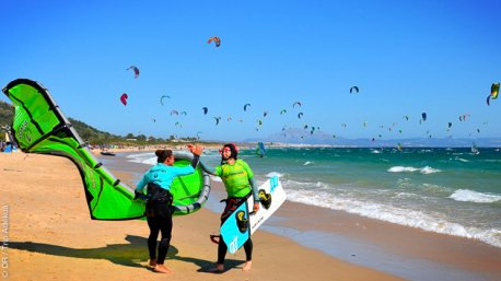 kite à Tarifa en septembre