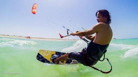 votre stage de kyte surf à Jerba sur la lagune