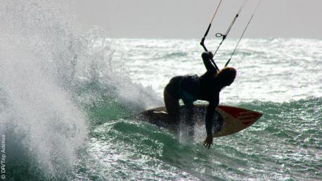 Des sessions kite superbes lors de ce stage au Cap vert