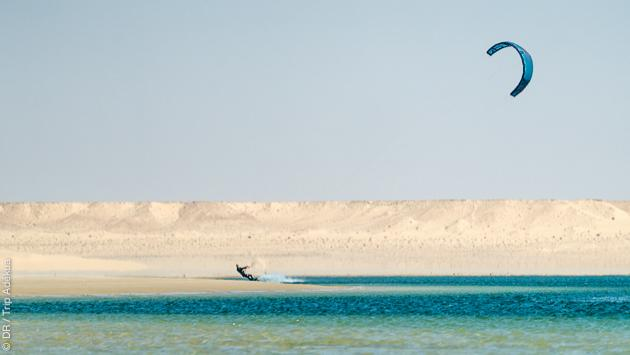 kiter en plein sahara à Dakhla