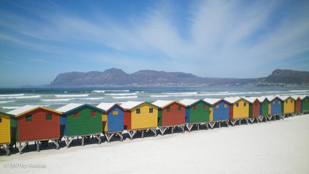 le spot de kitesurf de Muizenberg près du Cap en Afrique du Sud
